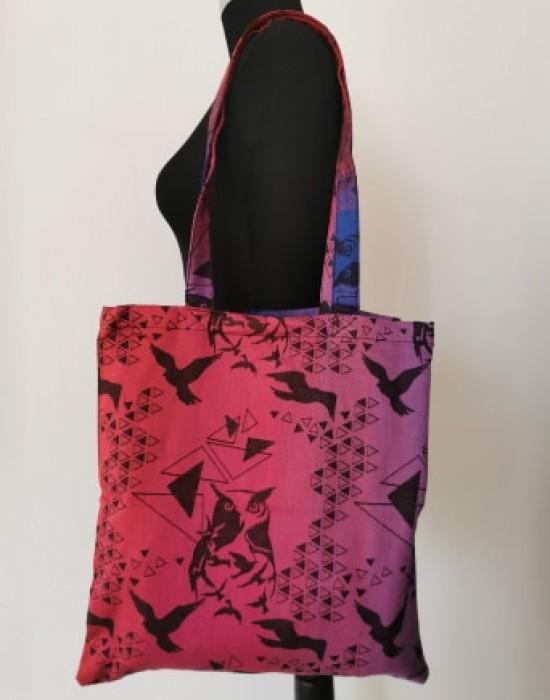 """Bag with long handles """"Kaya"""" - Red Birds"""