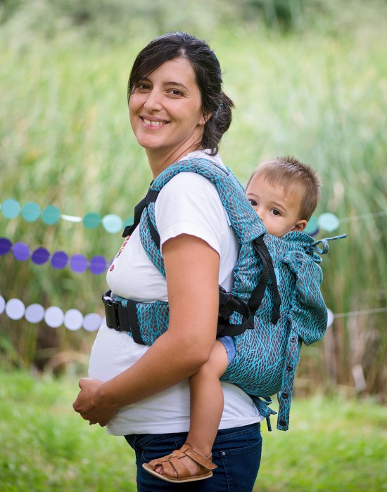 "Ergonomic Baby Carrier ""Eywa"" - LEAVES - Toddler"
