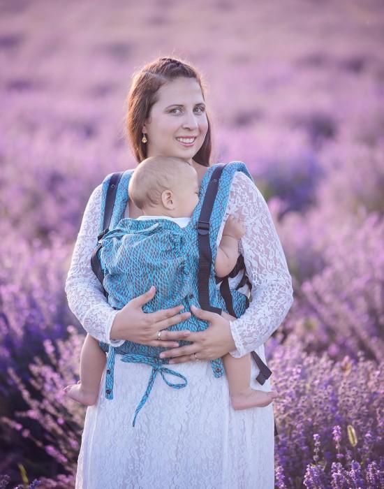 """Ergonomic baby carrier """"Korra"""" - LEAVES"""