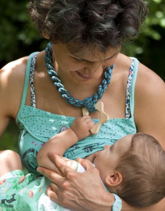 Babywearing woven necklace Kaya - Leaves